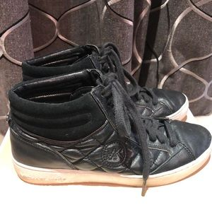Michael Kors Paige Quilted Leather Sneakers